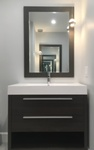 Bathroom Vanity Mirror and Cabinet - Bathroom Renovations Lively by INTERIORS by NICOLE