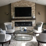 Decorative Fireplace in Living Room - Home Renovations Hanmer by INTERIORS by NICOLE