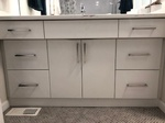 White Bathroom Vanity Cabinets by Onaping Interior Decorator - INTERIORS by NICOLE