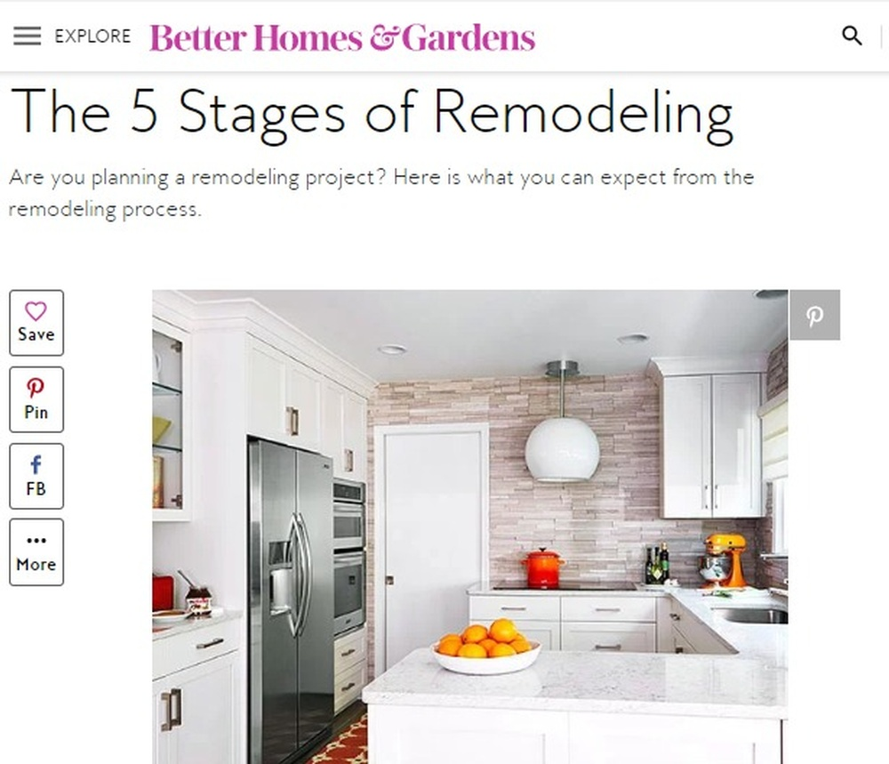 Stages of Remodeling   Better Homes   Gardens