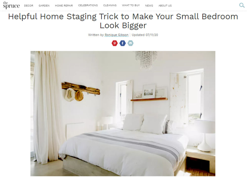 Helpful Homes Staging Trick To Make Your Small Bedroom Look Bigger