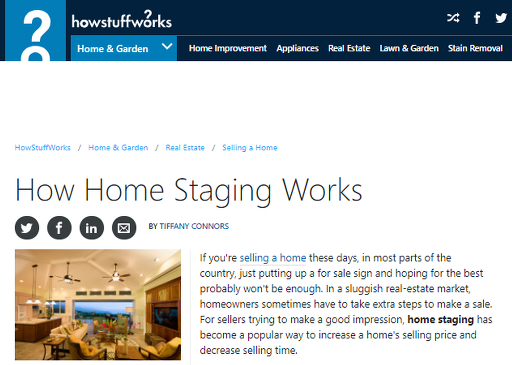 How Home Staging Works