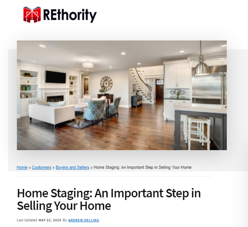 Home Staging - An Important Step In Selling Your Home