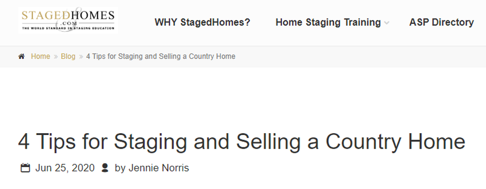 4 Tips For Staging And Selling A Country Home