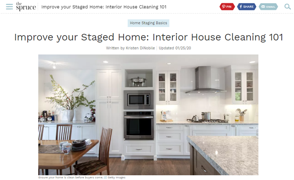 Improve Your Staged Home - Interior House Cleaning 101