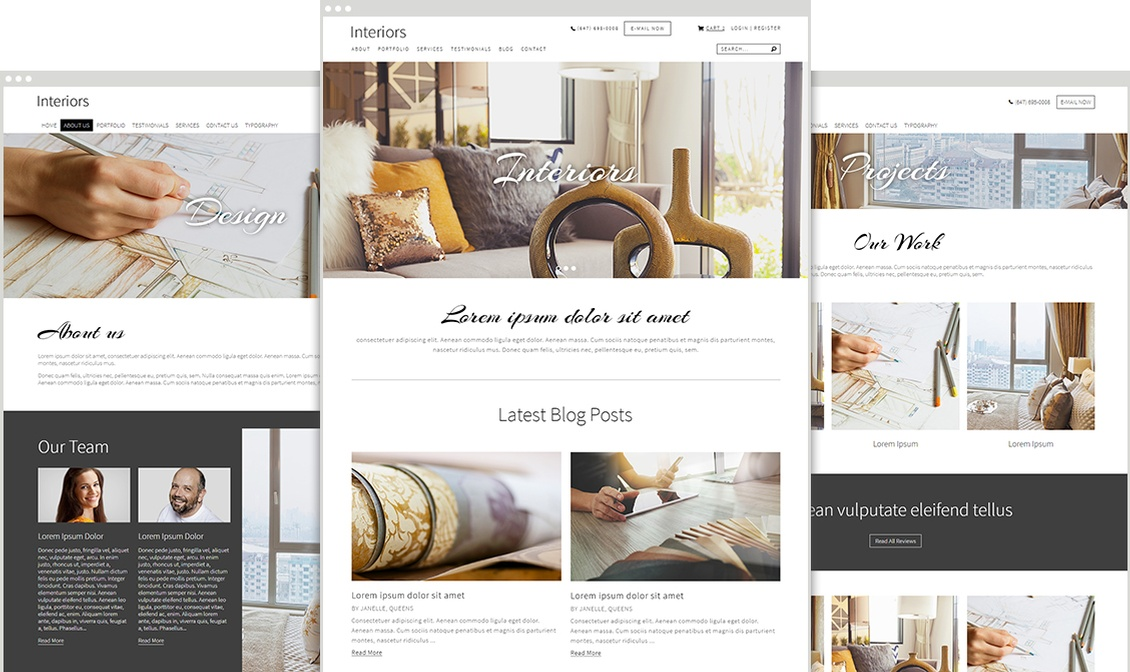Clean and Professional Website Design Templates for your Business