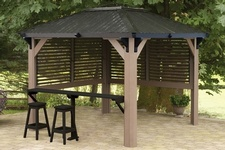 Buy The Sienna Semi Enclosed Gazebo Online at Beachcomber Lloydminster