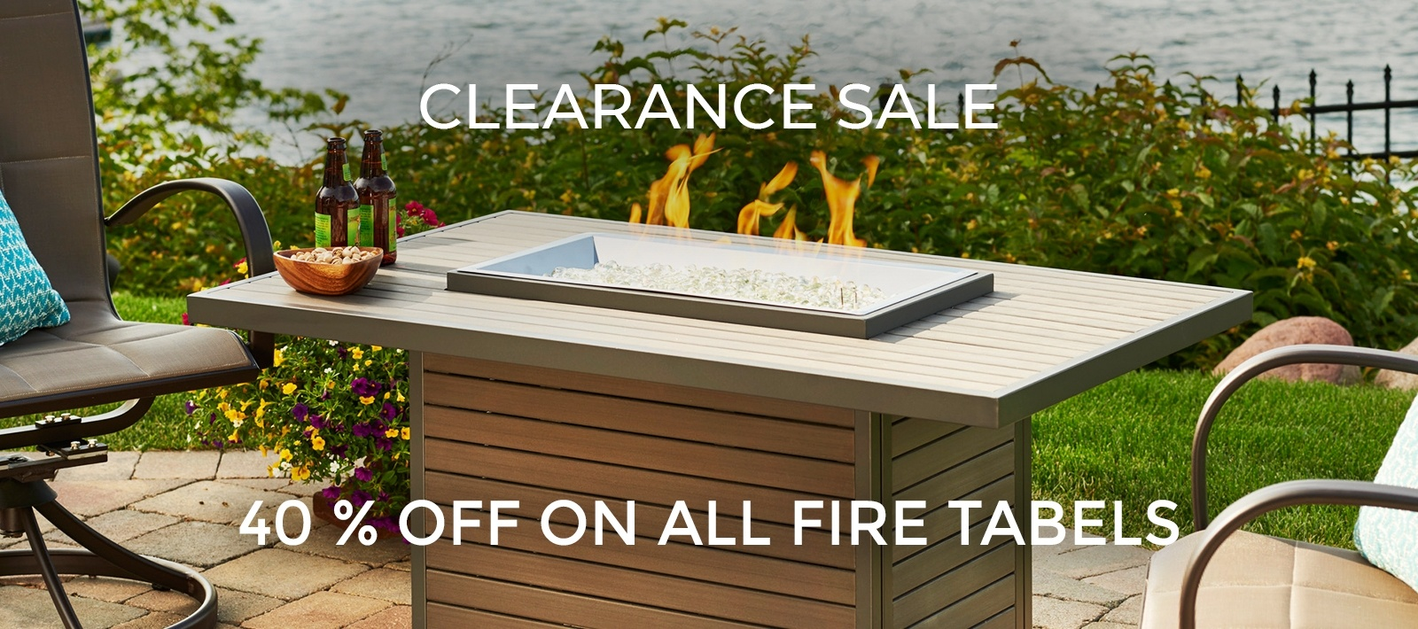 Clearance Sale - 40 Percent Off on all Fire Tables - Beachcomber Lloydminster