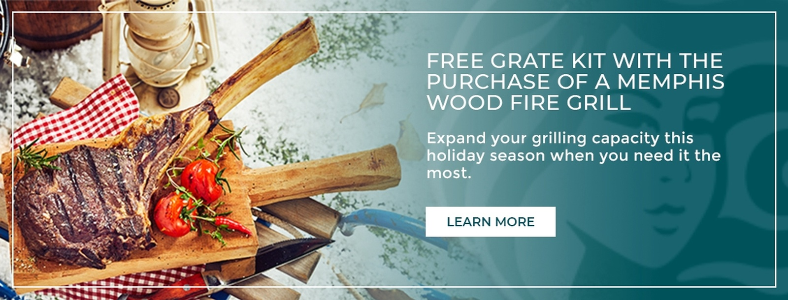 Free Grate Kit with a Purchase of a Memphis Wood Fire Grill