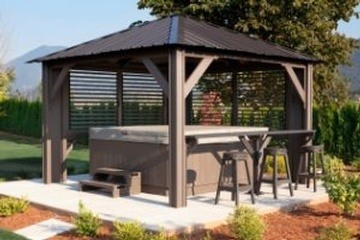 Buy High Quality Semi Enclosed Gazebos offered by Beachcomber Lloydminster