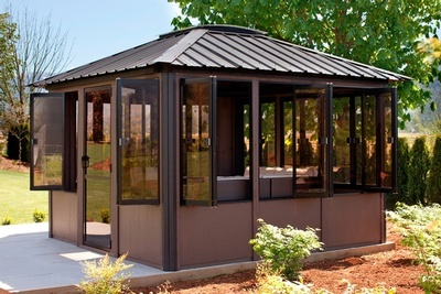 Buy The Jasper Visscher Gazebo with Extra-large bifold windows at Beachcomber Lloydminster