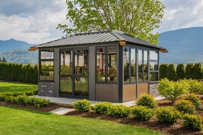Buy The Whistler Fully Enclosed Gazebo Online at Beachcomber Lloydminster
