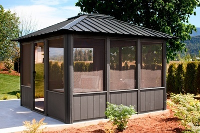 Buy The Jasper Fully Enclosed Gazebo Online at Beachcomber Lloydminster