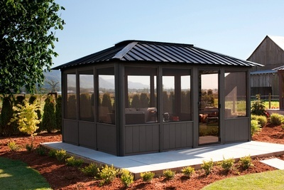 Buy The Okanagan Fully Enclosed Gazebo Online at Beachcomber Lloydminster