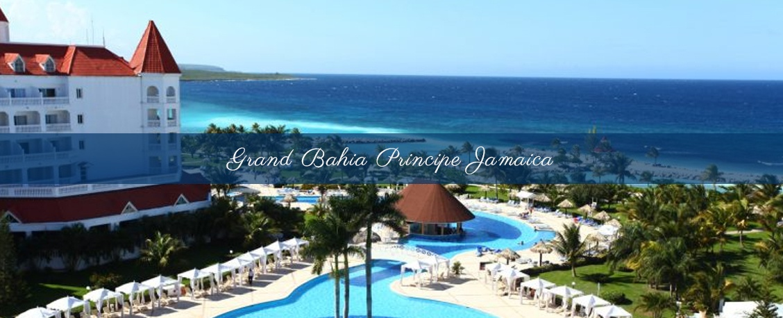 Aerial view of  romantic wedding at Grand Bahia Principe Jamaica