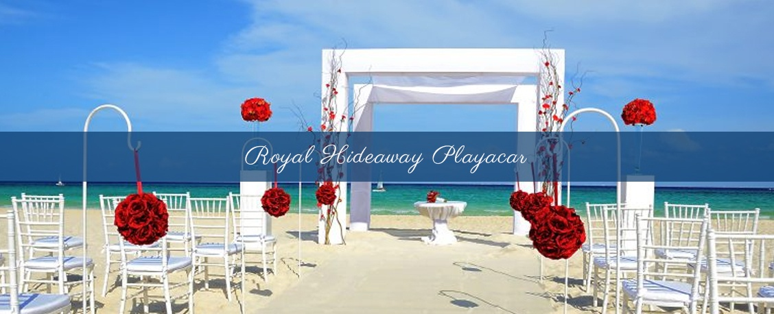 Destination wedding theme at royal hideaway playacar cutomized to suit your style
