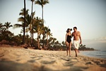 Newly Wed Couple in Dominican Republic on their Beach Destination wedding