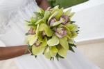 Bride with flowers during Destination Wedding at the Jewel Dunn's River