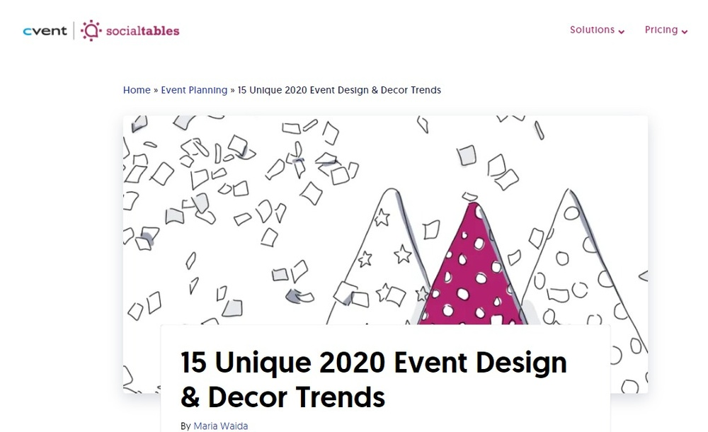 15 Unique Event Design   Decor Trends for 2020   Social Tables.jpg