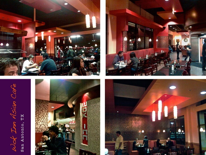 Wok in Asian Cafe - Restaurant Interior Design in San Antonio by Frausto Designs