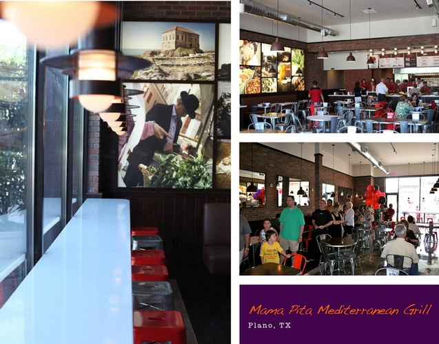 Mama Pita Mediterranean Grill - Restaurant Interior Design Piano TX by Frausto Designs