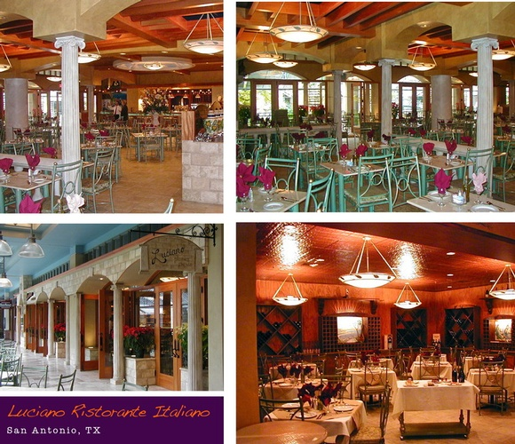 Luciano Ristorante Italiano - Restaurant Interior Design San Antonio by Frausto Designs