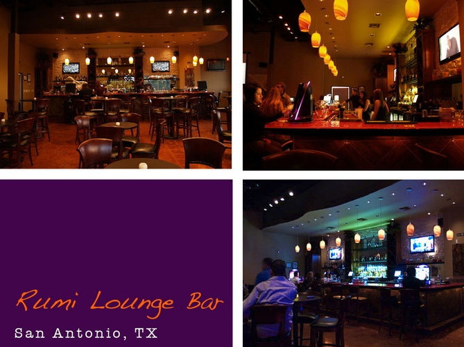 Rumi Lounge Bar - Restaurant and Bar Interior San Antonio TX by Frausto Designs