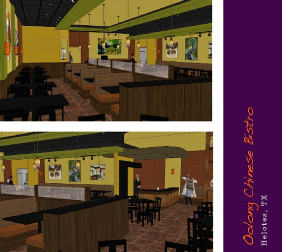 Oolong Chinese Bistro - 3D Rendering Helotes TX by Frausto Designs