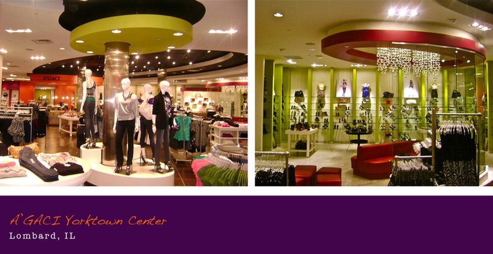 A'GACI Yorktown Center - Retail Store Interior Design Lombard, IL