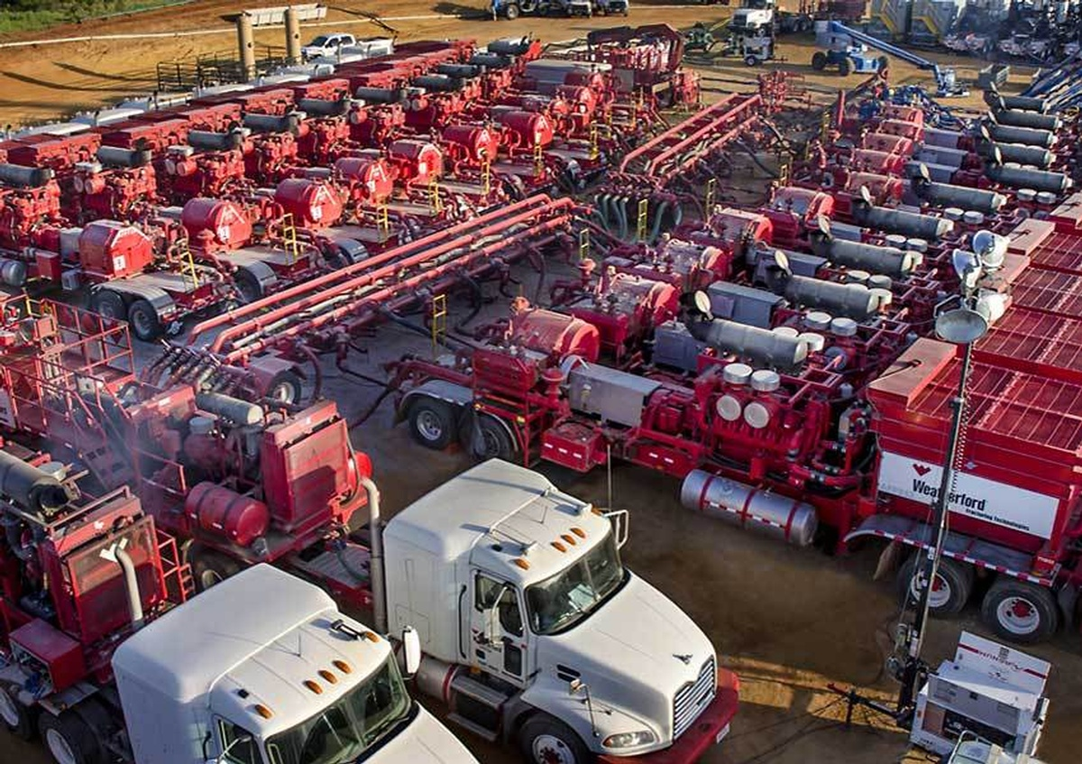 Industrial Trucks parked in a lot captured by a Commercial Photographer