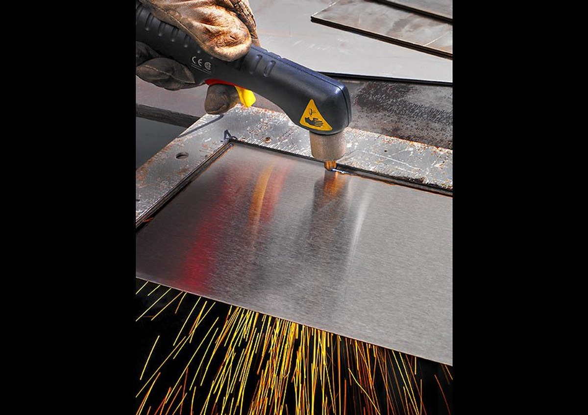 A metal sheet welding captured by Houston Commercial Photographer