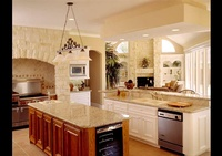 Kitchen Interior Architecture with marble countertops - Joe Robbins Photography , Architecture Photographer