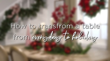 "RAZ Imports ""How to Transform a Table Top to Holiday"""