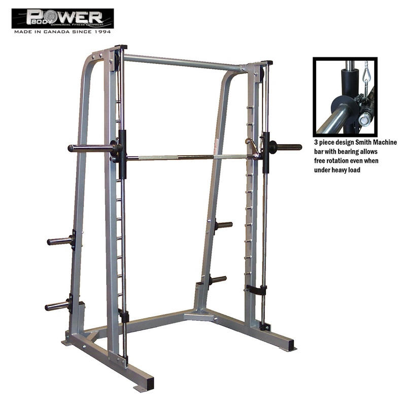 Smith Machine with Linear Bearings and Counter Balance