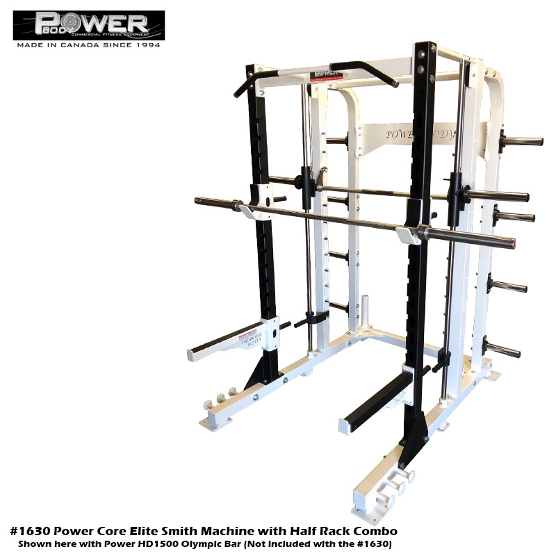 Power Core Elite Smith Machine and Half rack combo Commercial Quality Equipment