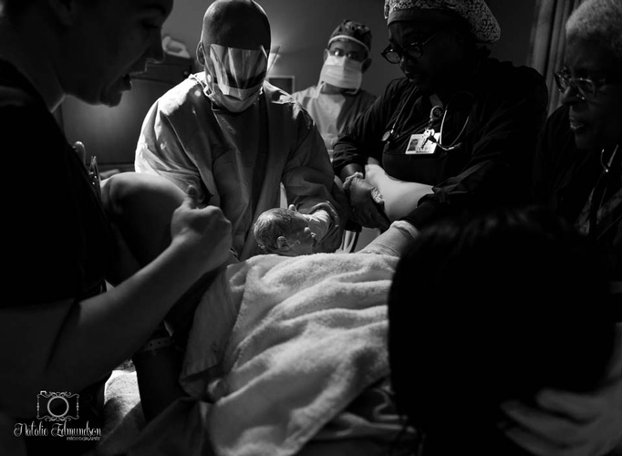 Monochrome Birth Photography Captured by Natalie Edmundson