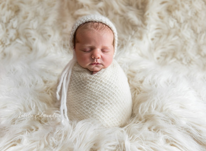 Baby Wrapped in Blanket - Newborn Photography Evans by Natalie Edmundson