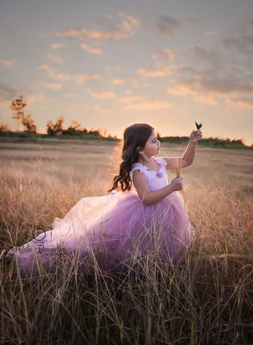 Girl Playing in Field Outdoor Photography by Natalie Edmundson