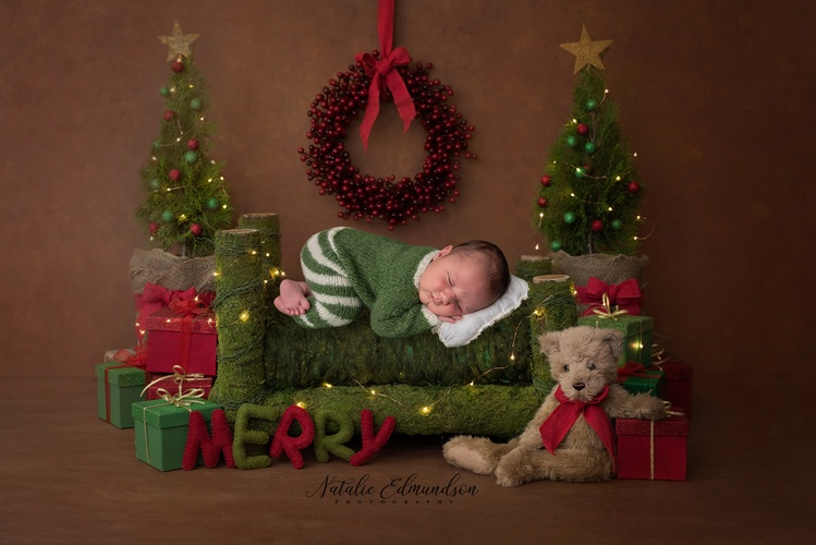 Baby Photoshoot for Christmas by Natalie Edmundson - Newborn Photography Aiken
