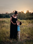 Pregnant Mother and Child Outdoor Photography by Natalie Edmundson