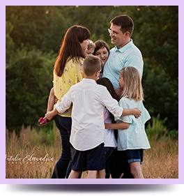 Happy Family clicked by Natalie Edmundson - Family Photographer Harlem GA