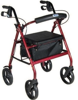 Rollator with Hand Brakes and a seat