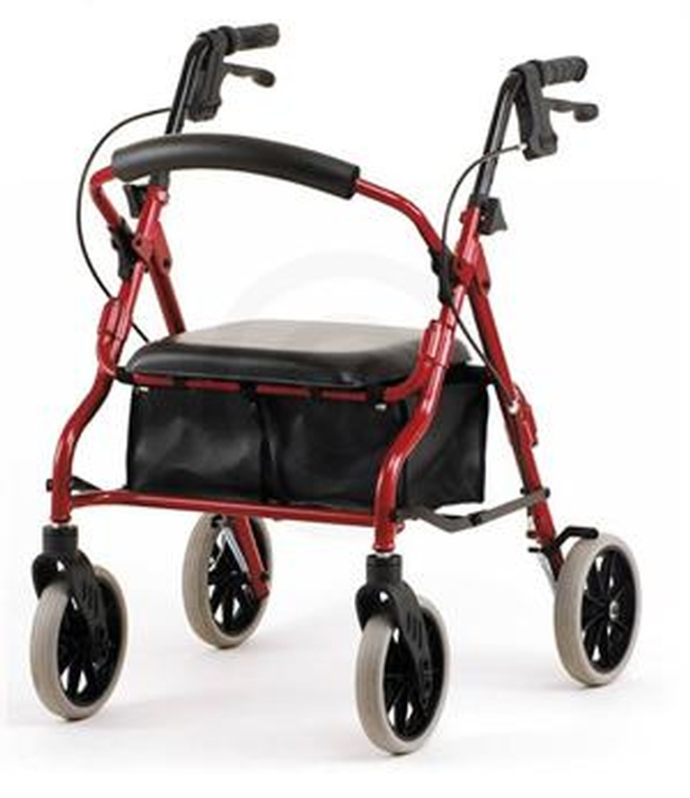 Rollator with Widw Wheels, Hand Brakes and a seat