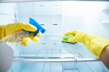 Inside Fridge Cleaning