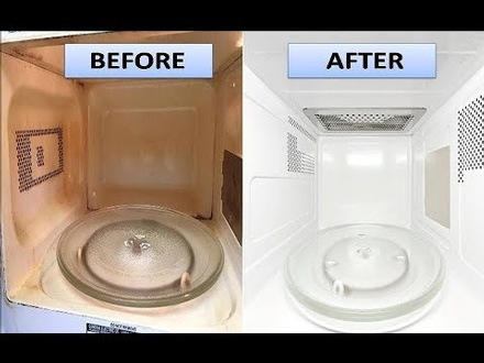 INSIDE MICROWAVE CLEANING