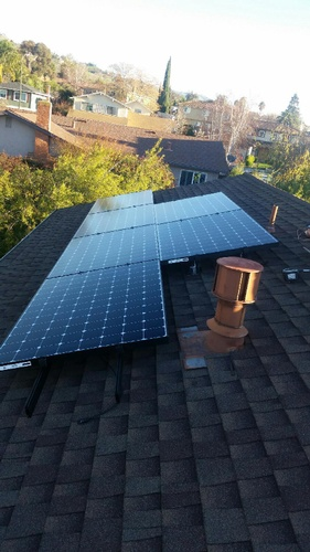 Residential Rooftop Solar Panel Array by FRESCO SOLAR