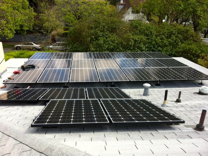 Residential Rooftop solar panel Array - 9.1 kW rooftop array. Palo Alto, CA by FRESCO SOLAR