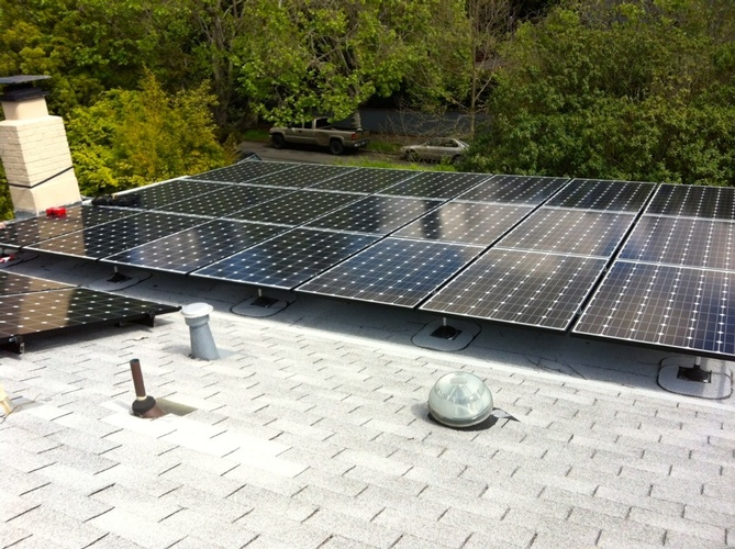 Residential Rooftop Solar Panel Installation by FRESCO SOLAR