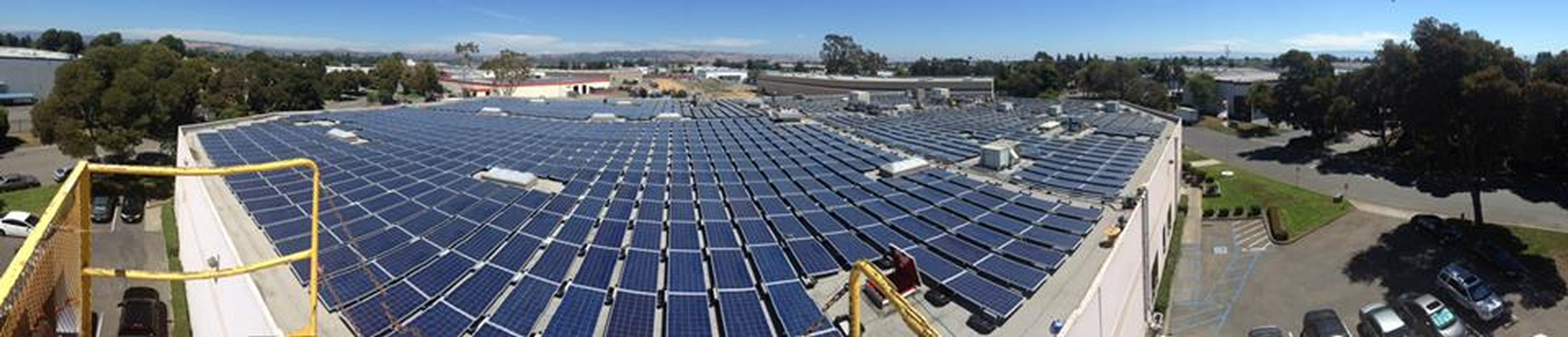 Commercial Rooftop solar panel Array Installation Hayward, CA by FRESCO SOLAR