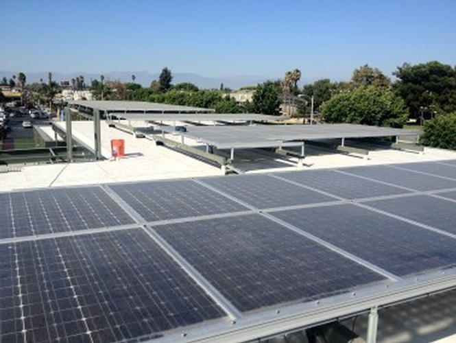 East Rancho Dominguez Library 30kW Rooftop solar panel Array by FRESCO SOLAR - Solar Panel Contractor